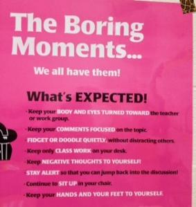 boring moment