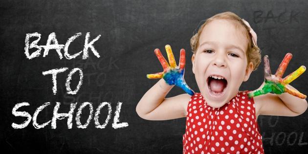 Happy child back to school